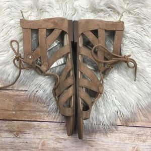 Sam Edelman Shoes - Sam Edelman | Circus Taupe Suede Gladiator Sandals
